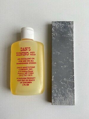 $9.99 • Buy Knife Sharpening Stone 2 Sided And Oil