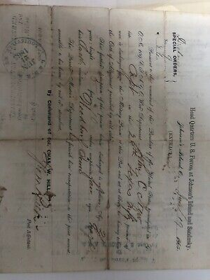 $450 • Buy Civil War Autograph Discharge Papers 1862 Pvt. James Newly