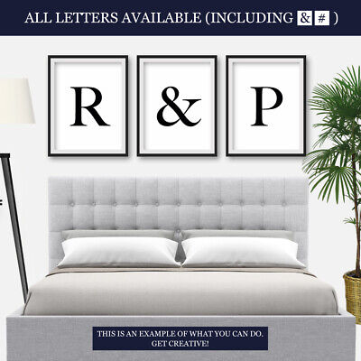 Letter Prints Bedroom Living Room Typography Home Decor Framed Wall Art Print • 4.49£