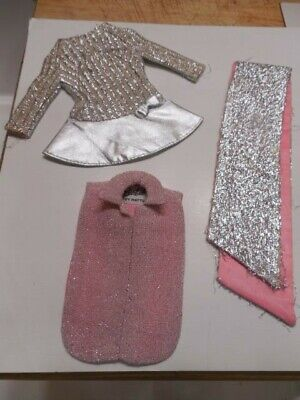 $ CDN46.54 • Buy Vintage MOD Barbie PINK & SILVER Lot, `Invitation To Tea` Tagged Top & More!  Fa
