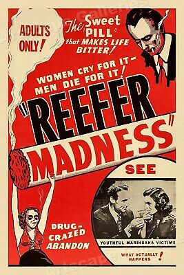 $ CDN23.97 • Buy 1950s Marijuana Movie Poster -  Reefer Madness  Adults Only! - 20x30