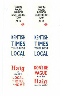 Modelmaster 1:76th Professional Silk Screen Watersllde Decals BUS ADVERTS  4   • 4.50£