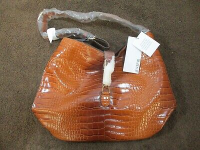 Just Fab Tan Textured Faux Leather Shoulder Bag. Adjustable Strap  BNWT • 11.99£