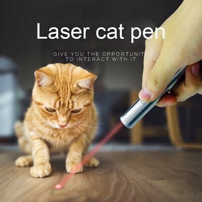 Laser Teaser Pen Cat Kitten Fun Exercise Play Toy Mouse Projecting Pointer Flash • 2.74£