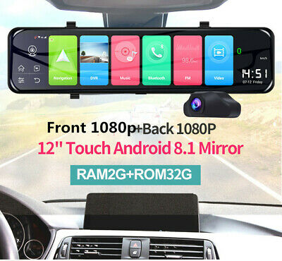 $ CDN183.15 • Buy 12  Android 8.1 Car DVR Dash Cam Front Rear View Video Mirror Driving Recorder