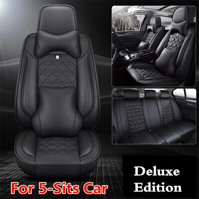 $ CDN193.02 • Buy PU Leather Seat Cover5-Sits Car Seat Protector Cushion For Interior Accessories