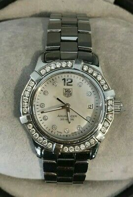 AU1425 • Buy Tag Heuer Womens Watch Aquaracer Diamonds Mother Of Pearl Authentic
