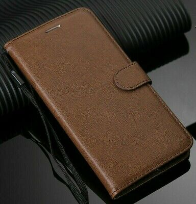 AU13.50 • Buy For IPhone 7+ 8+ Plus Brown Real Genuine Leather Wallet Card Slot Case Cover