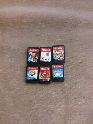 $38 • Buy Lot Of 6 Nintendo Switch Games Used No Box Sonic Forces Star Wars Batman Party
