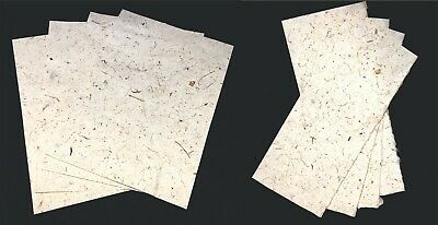 £2.99 • Buy Handmade Mulberry Paper 10 Sheets A5 Art Craft Decoupage LIGHT Coconut Paper