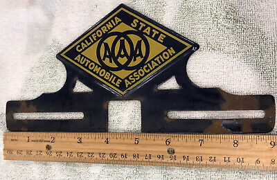 $ CDN196.87 • Buy Rare Aaa California State Automobile Association Porcelain License Plate Topper
