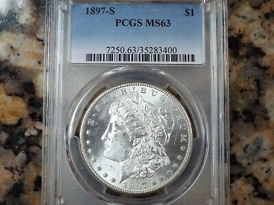 $104.99 • Buy 1897-S Morgan Silver Dollar, PCGS MS-63!