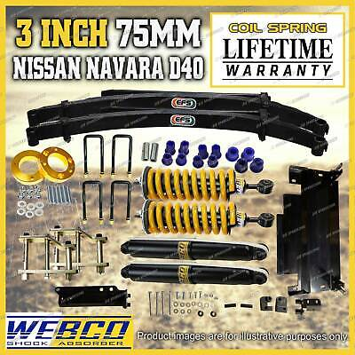 AU1895 • Buy 75mm Pre Assembled Lift Kit King Spring EFS Leaf Diff Drop For Nissan Navara D40