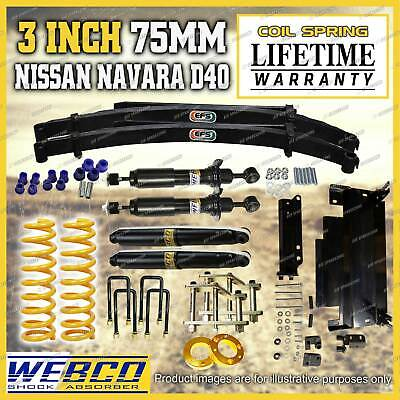 AU1795 • Buy 75mm Lift Kit Shocks King Spring EFS Leaf Diff Drop For Nissan Navara D40 STX550
