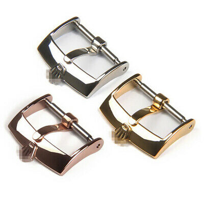 $ CDN14.19 • Buy 16mm 18mm 20mm New High Quality Stainless Steel Watch Band Strap Pin Buckle
