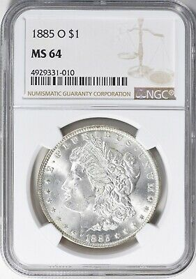 $31 • Buy 1885-o Morgan Silver Dollar Ngc Ms-64  Gorgeous