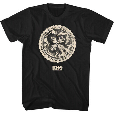 $29.99 • Buy Kiss Music Band T-Shirt ROCK AND ROLL Over Circle Official Black Cotton New Tee