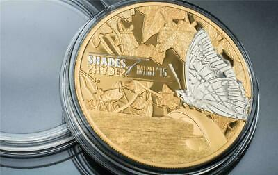 $0.99 • Buy 2015 Cook Islands $5 Shades Of Nature - Butterfly 25g Silver Proof Coin