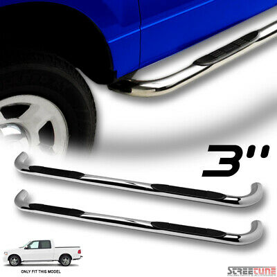 $179 • Buy For 01-03 F150 Super Crew Cab 3  Chrome Stainless Side Step Bar Running Board Hd