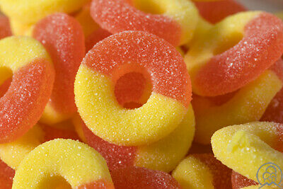 KINGSWAY PEACH RINGS SWEETS Ideal For Party Bags, Wedding, Christening,  • 6.95£