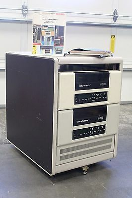 $1485 • Buy Pair Of Kennedy 9610 Front Loading 9 Track Tape Drive Rack Cabinet DEC Power Sup