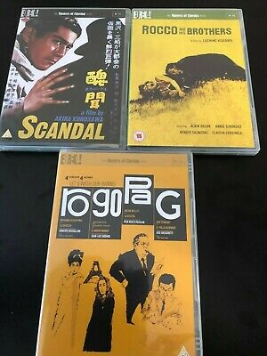 £43.15 • Buy Eureka Masters Of Cinema DVDs - Rocco And His Brothers, Scandal, Ro Go Pa G