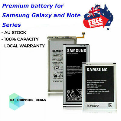 AU33.99 • Buy New Battery Replacement Samsung Galaxy S4 S5 S6 S7 S8 S9 Plus Edge Note 2 3 4 5