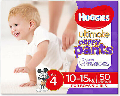AU34.95 • Buy Huggies Ultimate Nappy Pants, Unisex, Size 4 (10-15kg), 50 Count