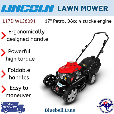 AU240.79 • Buy Lincoln L17D 1.3kW (17 ) Petrol Powered Lawn Mower High Power W/ 2 In 1 Function