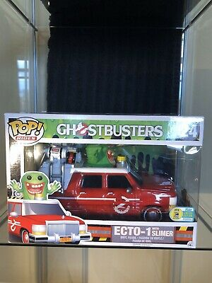 Funko POP! Rides: 2016 SCCE Ghostbusters Ecto-1 With Slimer #24 COMIC CON STICK • 56.46£