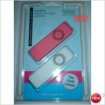 £3.50 • Buy Podgear Jumpsuit  2 X Protective Cases For Ipod Shuffle 1 X White & 1 X Pink New