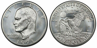 $14.50 • Buy 1971-S Eisenhower Silver One Dollar $1 Brilliant Uncirculated  IKE  Coin