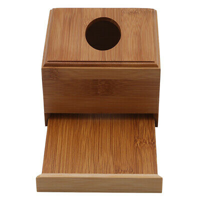 AU12.49 • Buy Bamboo Square Roll Tissue Napkin Box Toilet Paper Box Case Canister AA