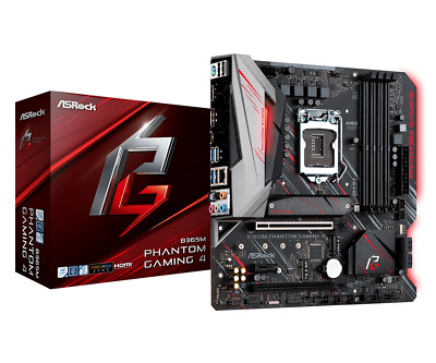 AU199 • Buy ASRock B365M Phantom Gaming 4 ATX LGA1151 Gaming Motherboard HDMI CrossfireX