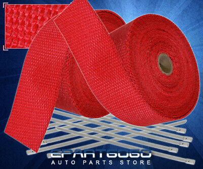 $ CDN48.71 • Buy 30Ft X 2  X1.5mm Mesh Heat Wrap Cover Roll Intake Piping Auto Car Motorcycle Red