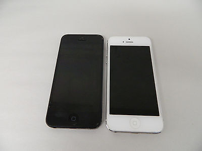 $ CDN88.11 • Buy Lot Of 2 - Apple IPhone 5 - Model A1429 - Good Condition - LOCKED - White Black