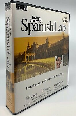 £17.75 • Buy Instant Immersion Spanish Lab 8 CD's Software DVD Learn Spanish