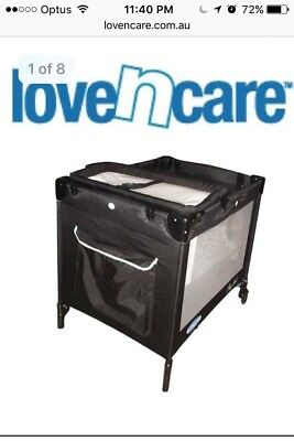AU75 • Buy Love N Care Portable Foldable Travel Cot With Wheels And Accessories