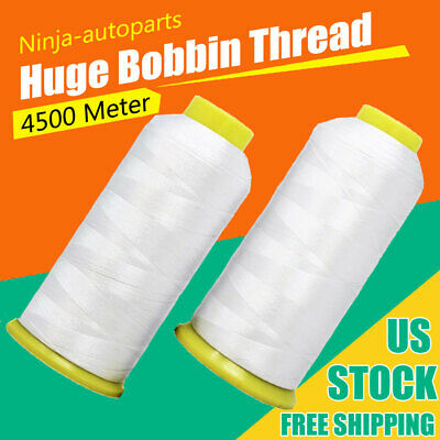 $12.98 • Buy Huge Bobbin Thread For Sewing And Embroidery Machine 2 White Colors Set