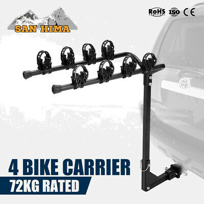 AU89.99 • Buy 4 Bicycles Bike Rack Carrier 2inch For Car Rear Towbar Hitch Mount