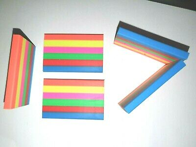 5 X RAINBOW ERASERS Children's School Stationery Pencil Writing Rubbers • 1.80£