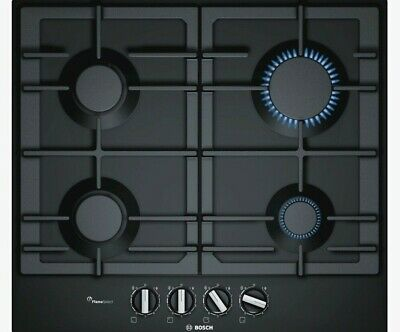BOSCH PCP6A6B90 4 BURNER BLACK STAINLESS STEEL GAS HOB Cosmetic Marks No4404 • 215.99£
