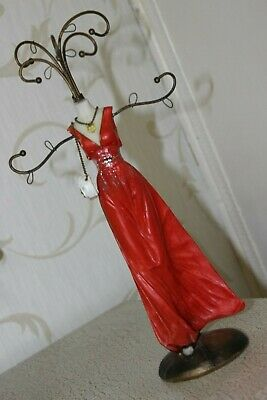 Vintage Jewellery Lady Plastic Display Stand With 7 Branches Height  11.5   • 17.70£