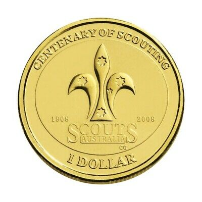AU3.95 • Buy 2008 - Scout - Australian $1 One Dollar Coin - Uncirculated UNC From Mint Roll
