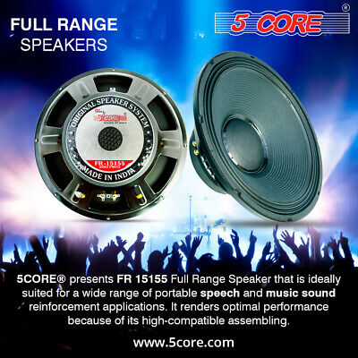 $ CDN47.83 • Buy PRO AUDIO 15  RAW Replacement DJ Sub Woofer Loud Speaker DRIVER FULL RANGE 8 OHM