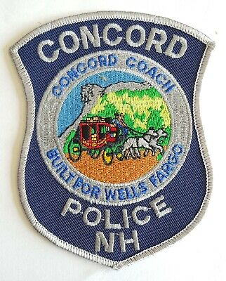 Obsolete Original Police Patch Badge Concord New Hampshire USA • 5.99£