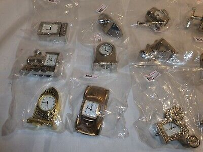 £6.99 • Buy Miniature Brass / Metal Clocks Various Themes Working Condition Tested