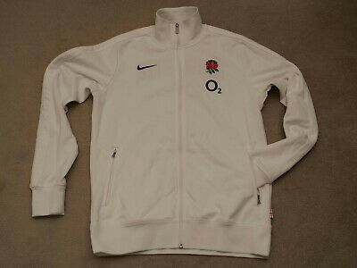 Nike England Rugby Union White Jacket Men's Size LT Large Tall • 49£