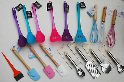 £2.99 • Buy NON STICK SILICONE Kitchen Tool Mixing Serving Cooking SPOON SPATULA SLICE BRUSH