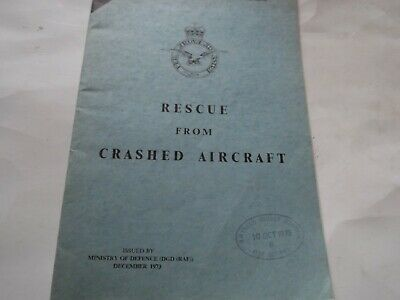 £14.99 • Buy Rescue From Crashed Aircraft,issued Ministry Of Defence Dec. 1973,34 Pages,good